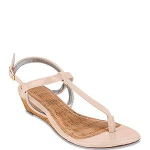 NEW Rampage nude Strappy Sandals Size 9